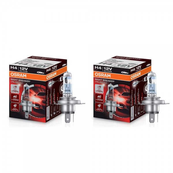 Osram H4 Night Breaker Unlimited +110% 2 Stück Duo