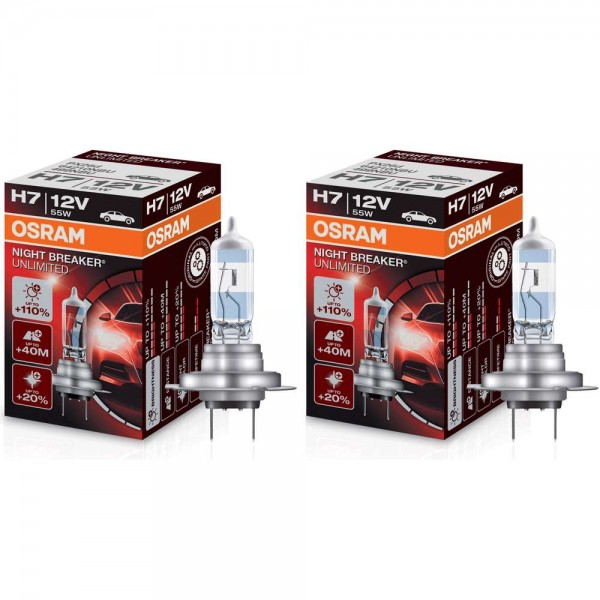 Osram H7 Night Breaker® Unlimited +110% 2 Stück