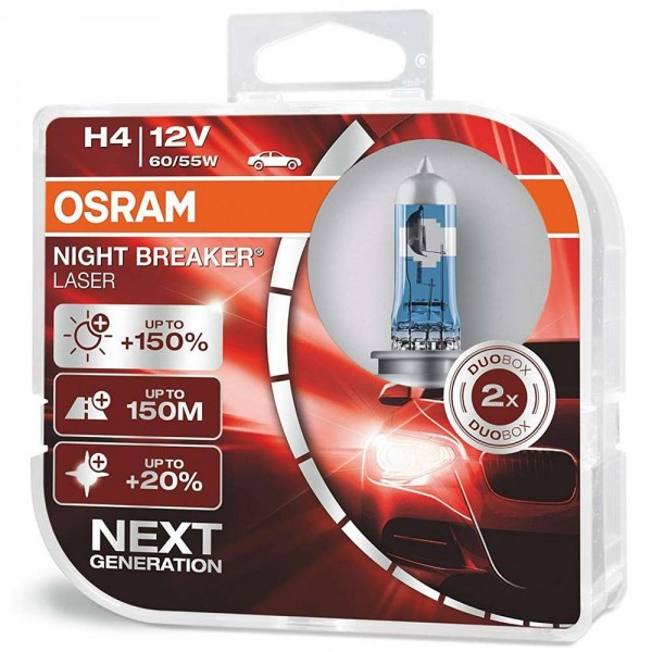 Osram Night Breaker® Laser H4 Next Generation +150% Duobox